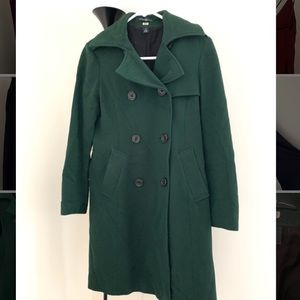 Gap hunter green dress coat